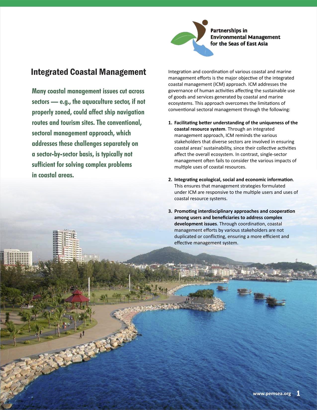 Integrated Coastal Management [Brochure, 2015] | PEMSEA