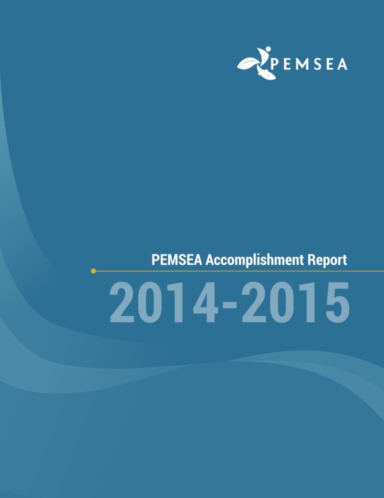 Pemsea Accomplishment Report   Pemsea