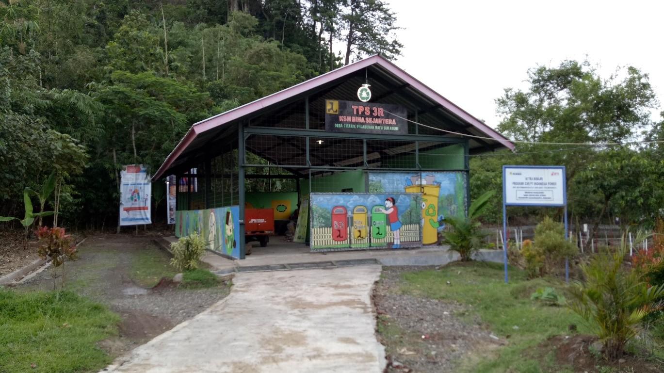 The waste bank in Citarik village