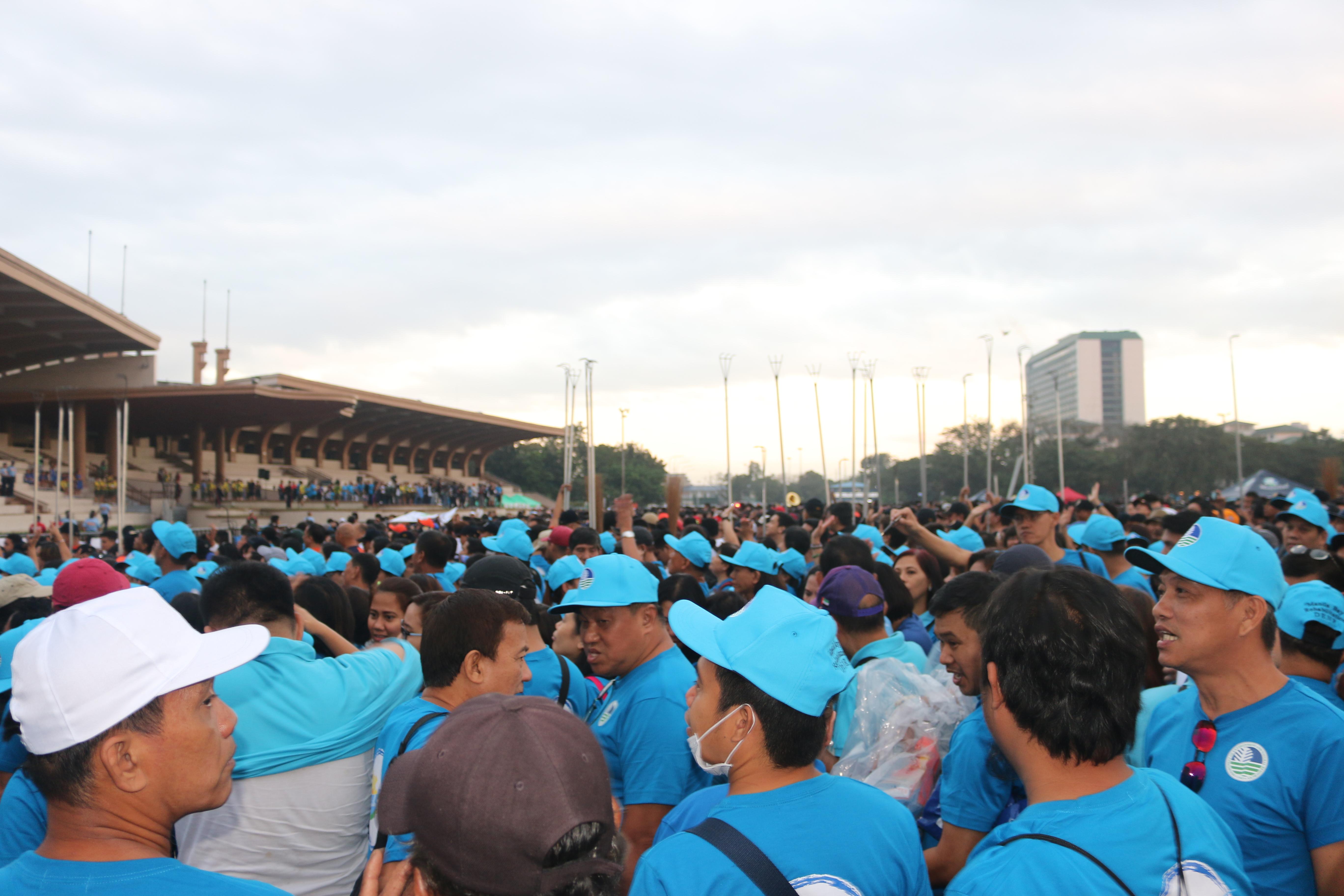 DENR staff at Quirino Grandstand