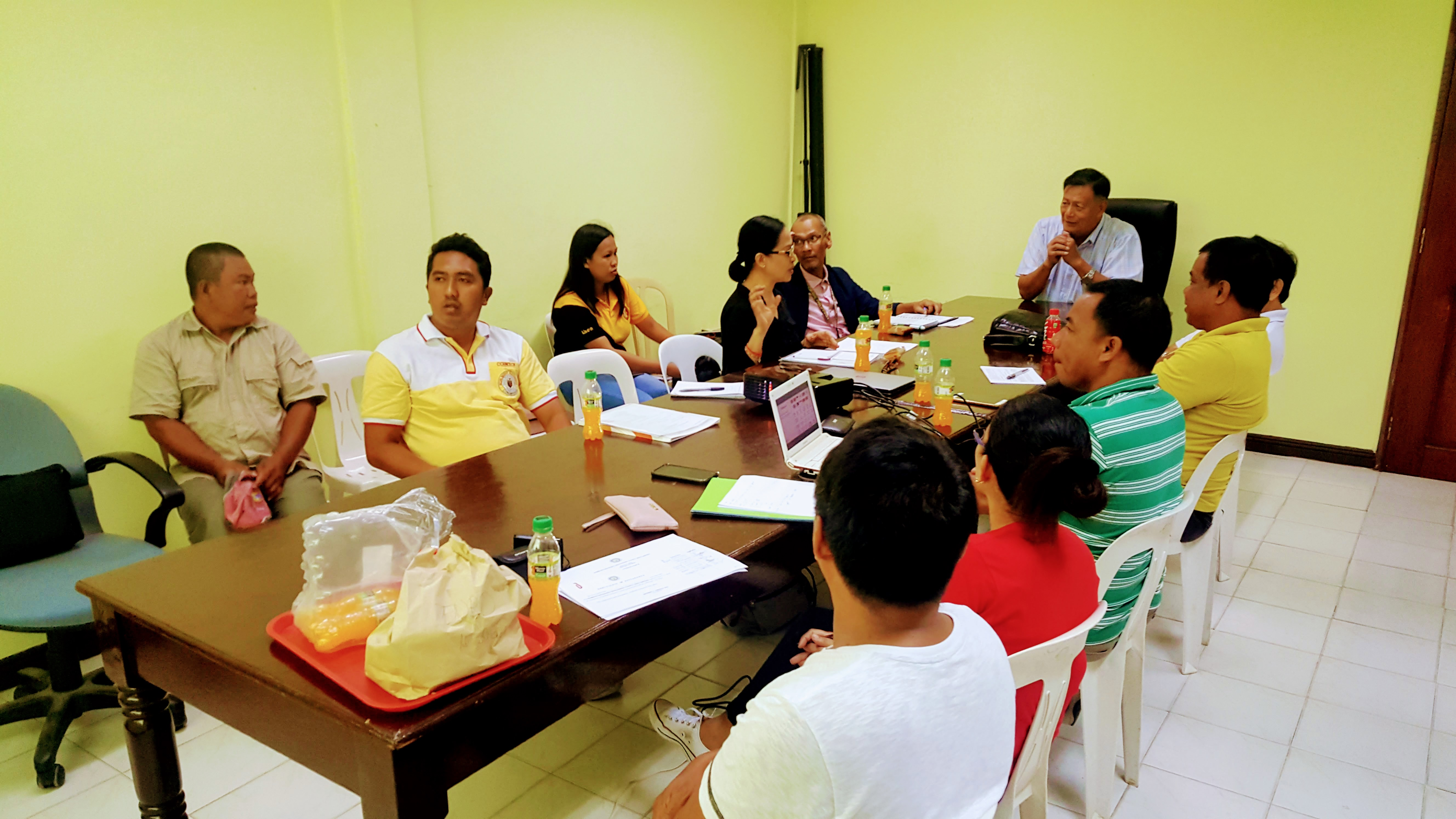 Attendees of the first Romblon Sustainable Development Council meeting