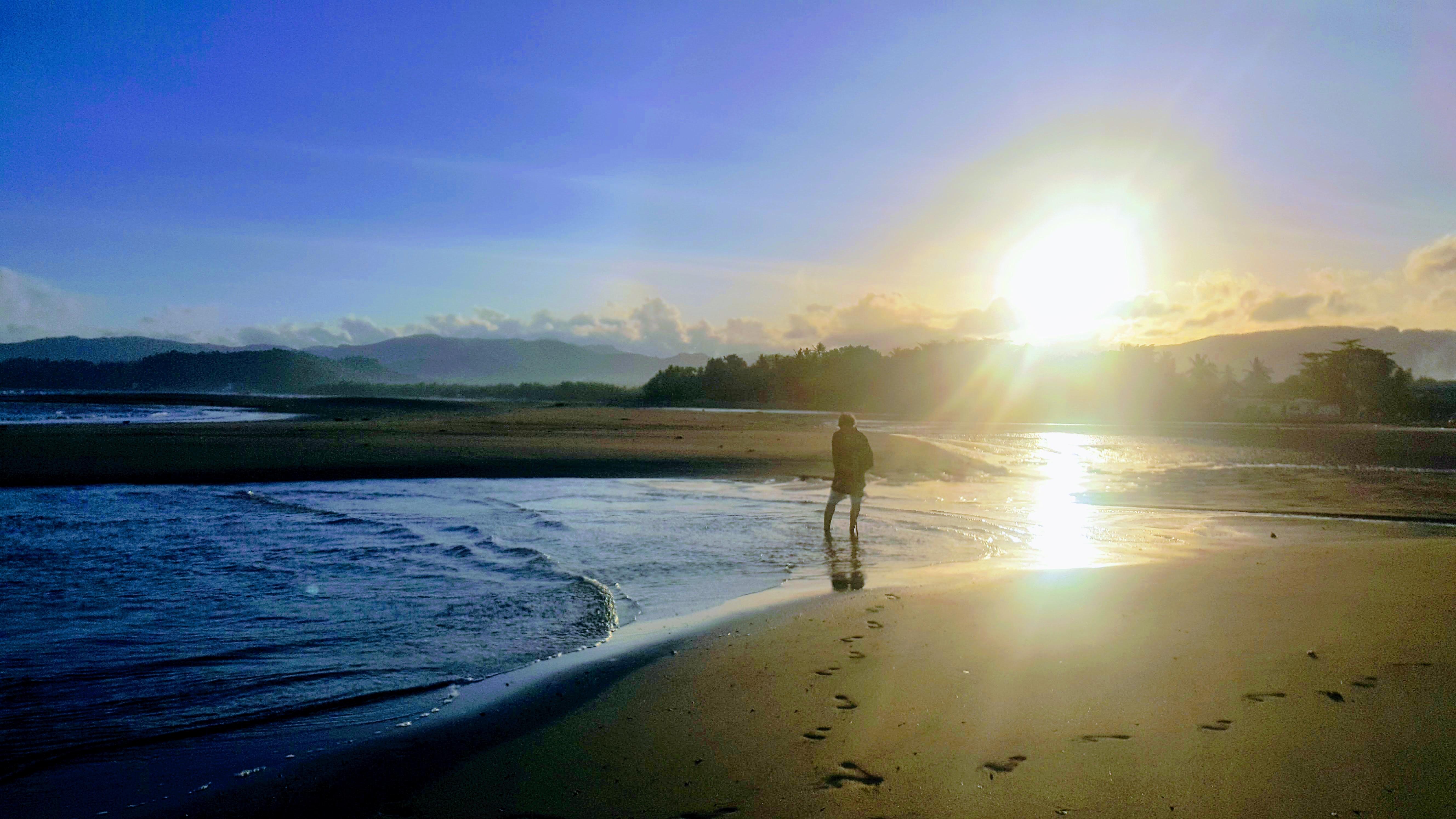 The sun at the horizon in Romblon