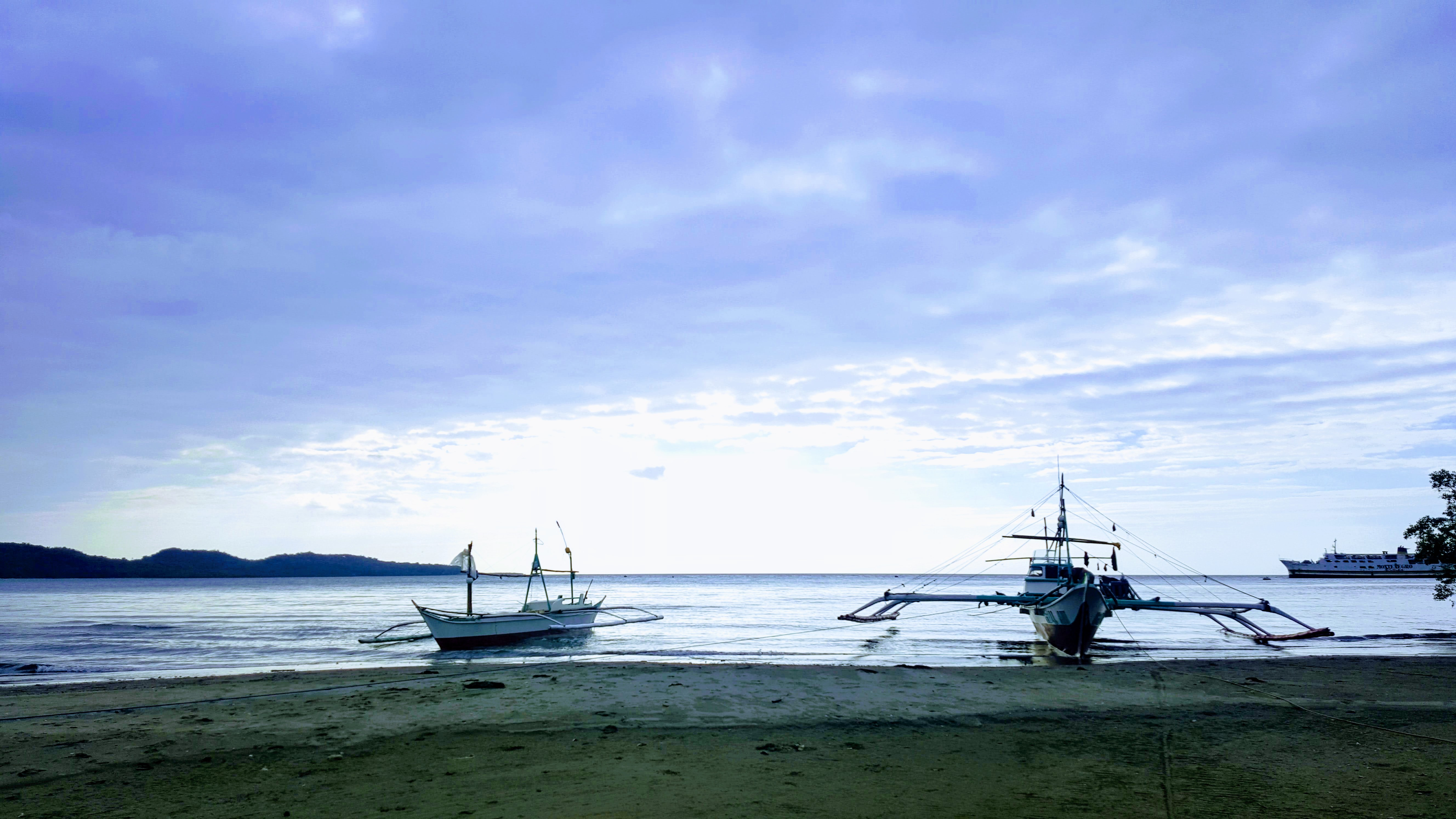 Boats on the shoreline