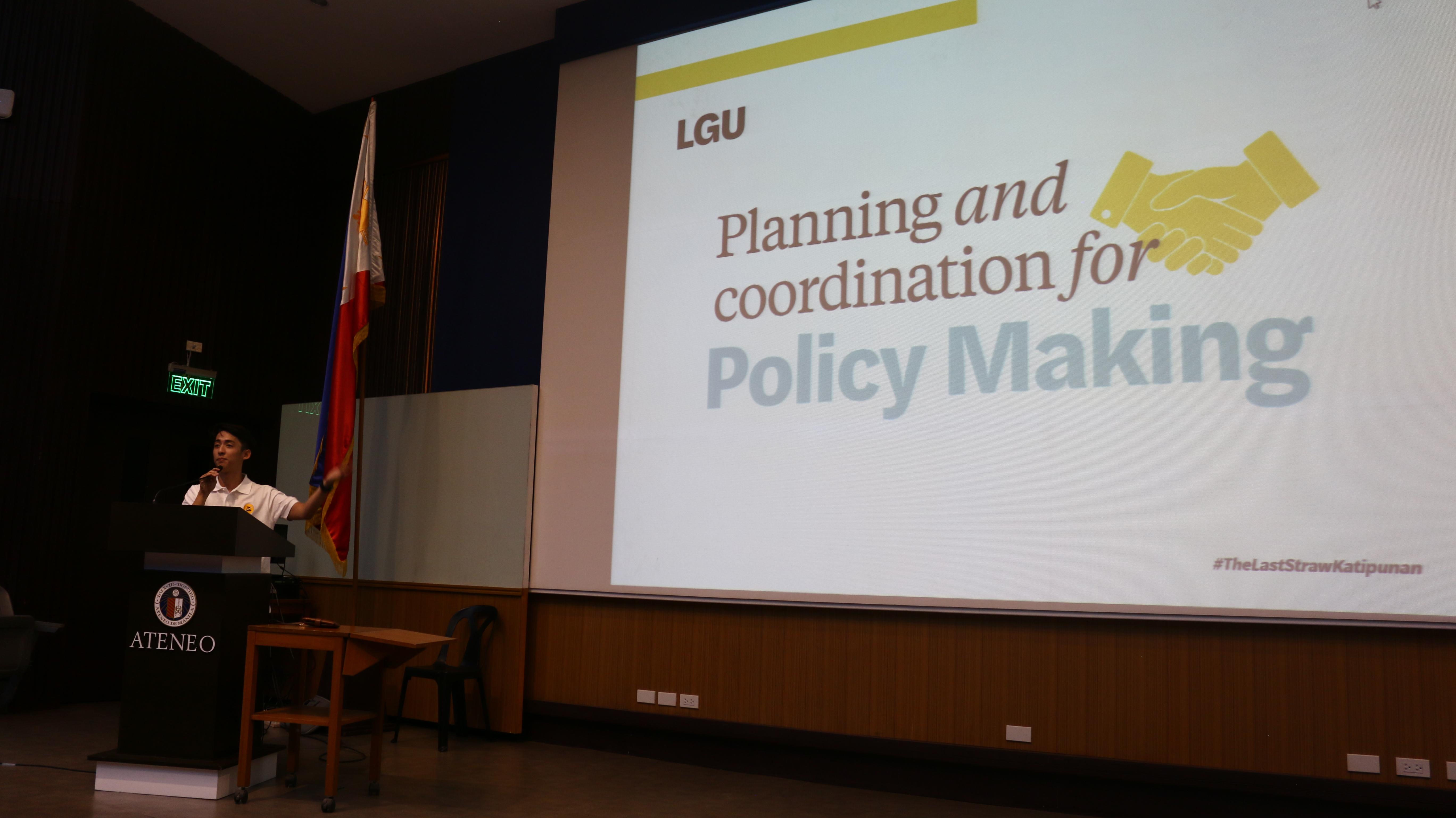 "Mr. Pocholo ""Poch"" Espina speaking at the Last Straw Katipunan community consultation"