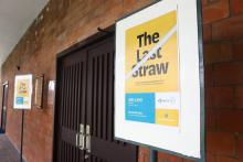 Sign promoting The Last Straw Katipunan community consultation